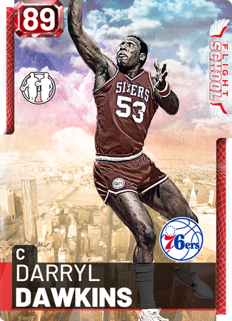 '89 Darryl Dawkins ruby card