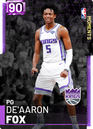 De'Aaron Fox amethyst card