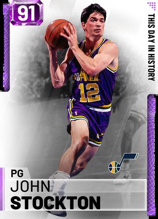 '98 John Stockton amethyst card