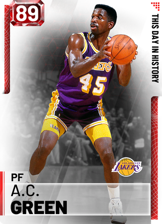 '91 A.C. Green ruby card