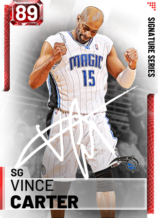 '00 Vince Carter ruby card
