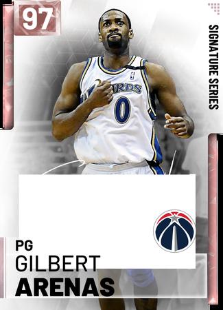 '06 Gilbert Arenas pinkdiamond card