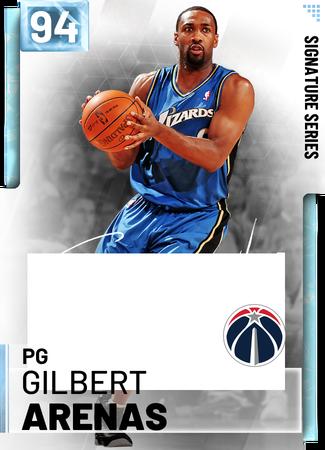 '08 Gilbert Arenas diamond card