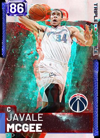 '18 JaVale McGee sapphire card