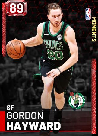 Gordon Hayward ruby card