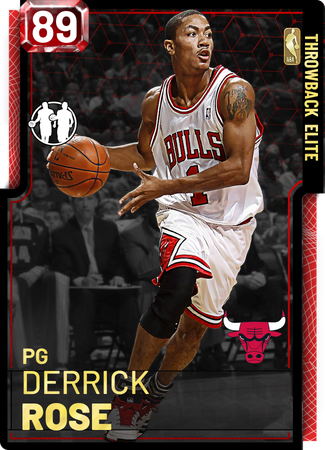 '11 Derrick Rose ruby card