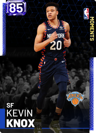 Kevin Knox sapphire card