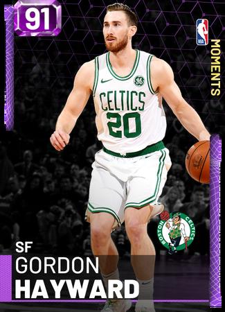 Gordon Hayward amethyst card