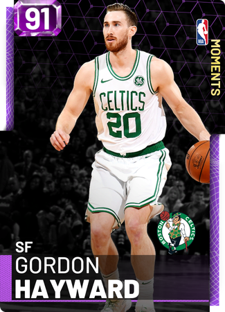 Gordon Hayward amethyst card