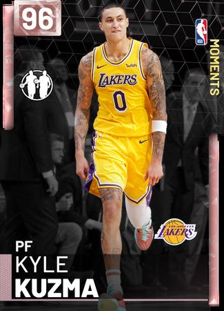 Kyle Kuzma 96 Nba 2k19 Myteam Pink Diamond Card