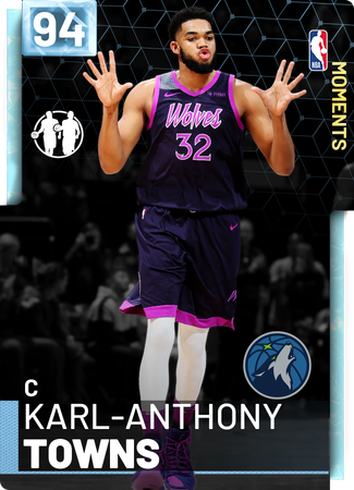 Karl-Anthony Towns diamond card