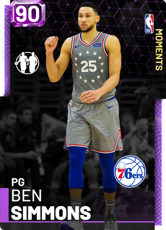 Ben Simmons amethyst card
