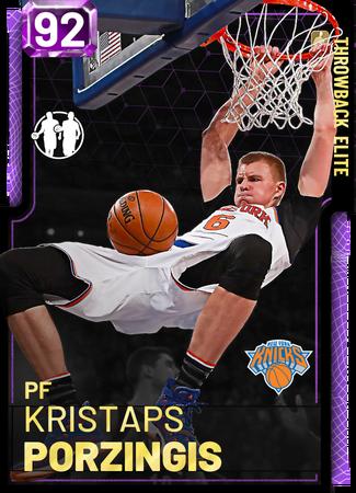 '15 Kristaps Porzingis amethyst card