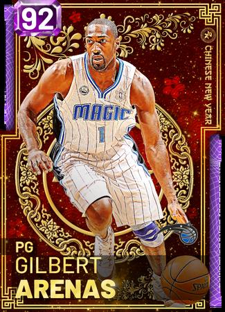 '03 Gilbert Arenas amethyst card