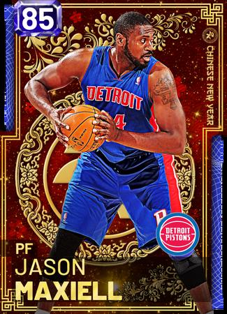 '18 Jason Maxiell sapphire card