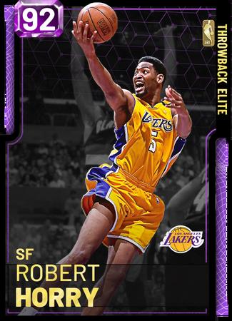 '95 Robert Horry amethyst card