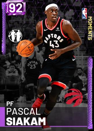 Pascal Siakam amethyst card