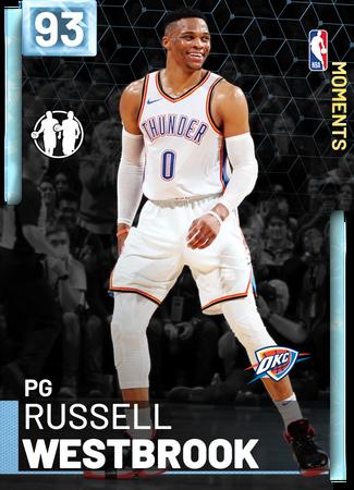 Russell Westbrook diamond card