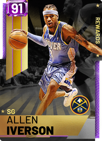 '01 Allen Iverson amethyst card
