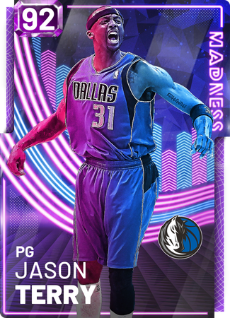 '02 Jason Terry amethyst card