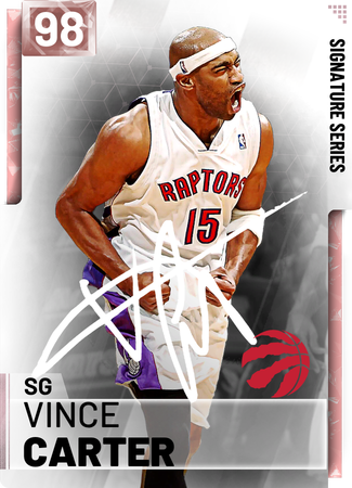 '00 Vince Carter pinkdiamond card