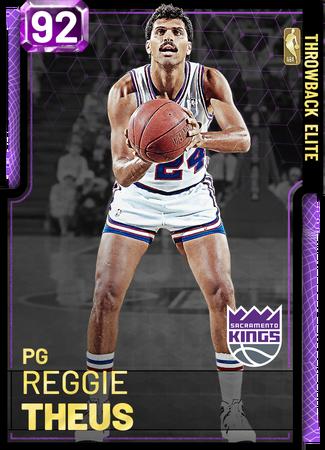'91 Reggie Theus amethyst card