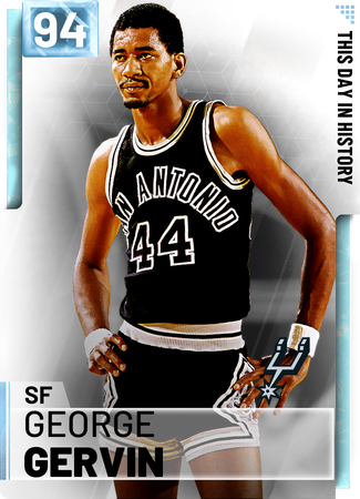 '80 George Gervin diamond card