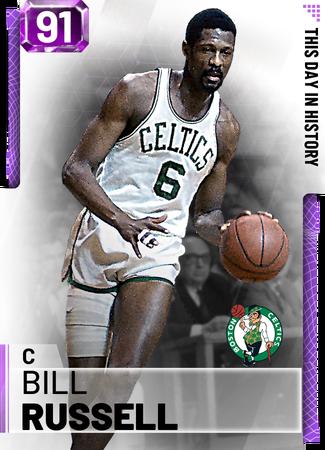 '65 Bill Russell amethyst card