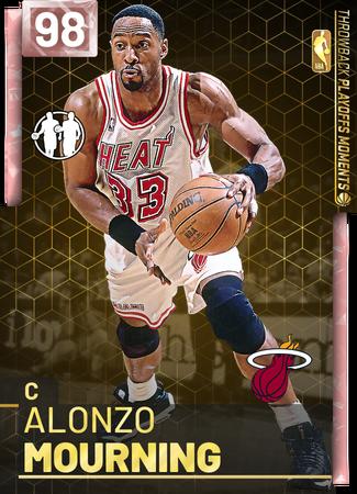'95 Alonzo Mourning pinkdiamond card