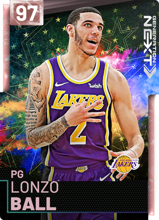 Lonzo Ball pinkdiamond card