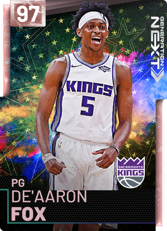 De'Aaron Fox pinkdiamond card