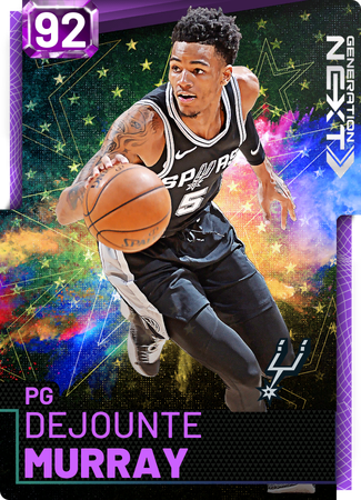 Dejounte Murray amethyst card