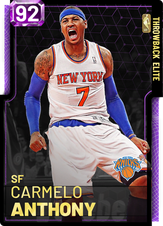 '12 Carmelo Anthony amethyst card