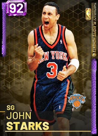'02 John Starks amethyst card