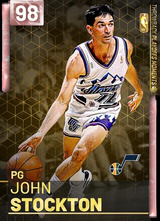 '98 John Stockton pinkdiamond card