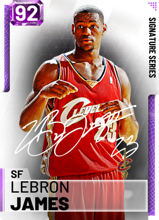 LeBron James amethyst card
