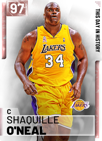 '02 Shaquille O'Neal pinkdiamond card