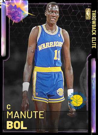 '87 Manute Bol opal card