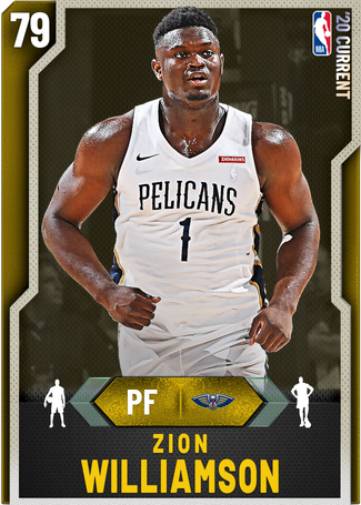 Zion Williamson gold card
