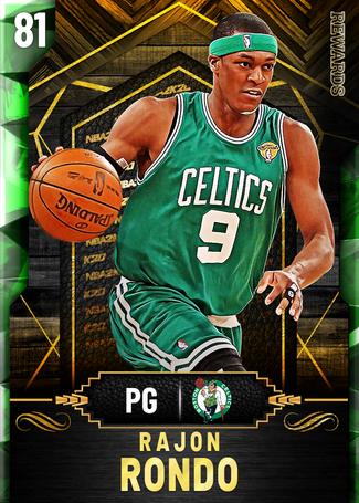 Rajon Rondo emerald card