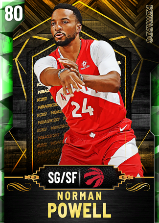Norman Powell emerald card