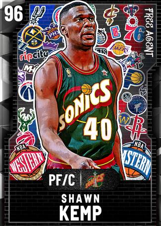'03 Shawn Kemp onyx card
