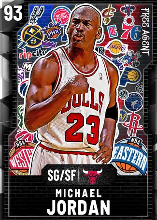 '95 Michael Jordan onyx card