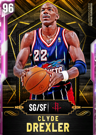 '98 Clyde Drexler pinkdiamond card