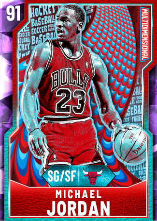 '95 Michael Jordan amethyst card