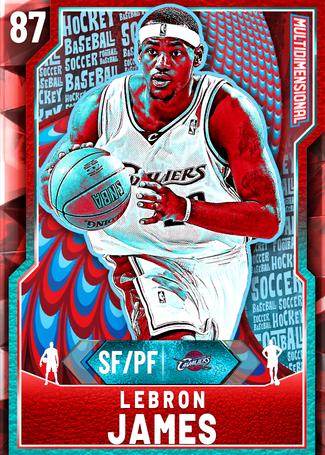 '04 LeBron James ruby card