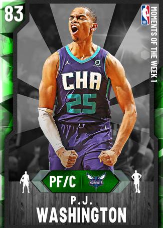 P.J. Washington emerald card