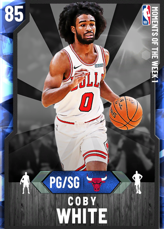 Coby White sapphire card