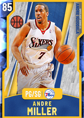 '10 Andre Miller sapphire card