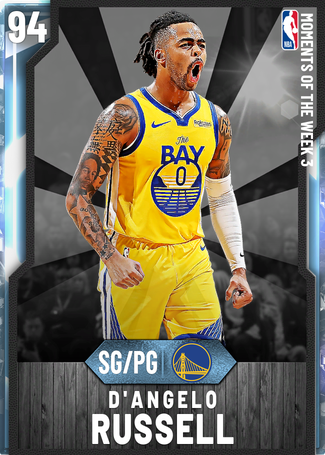 D'Angelo Russell diamond card